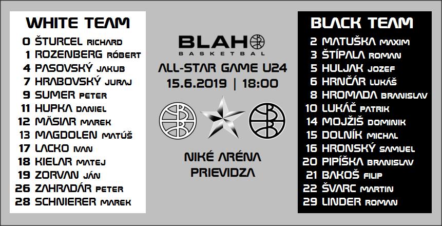 18:00, Zápas č.3 z BB ASW 2019 (Niké Aréna, Prievidza):