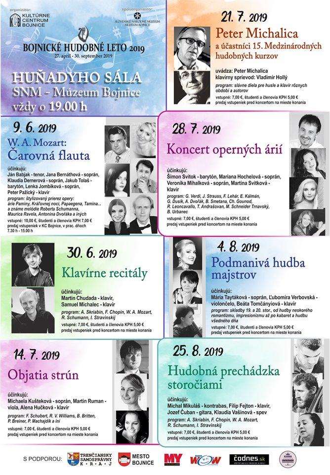 Bojnické kultúrne leto 2019 - Bojnický zámok