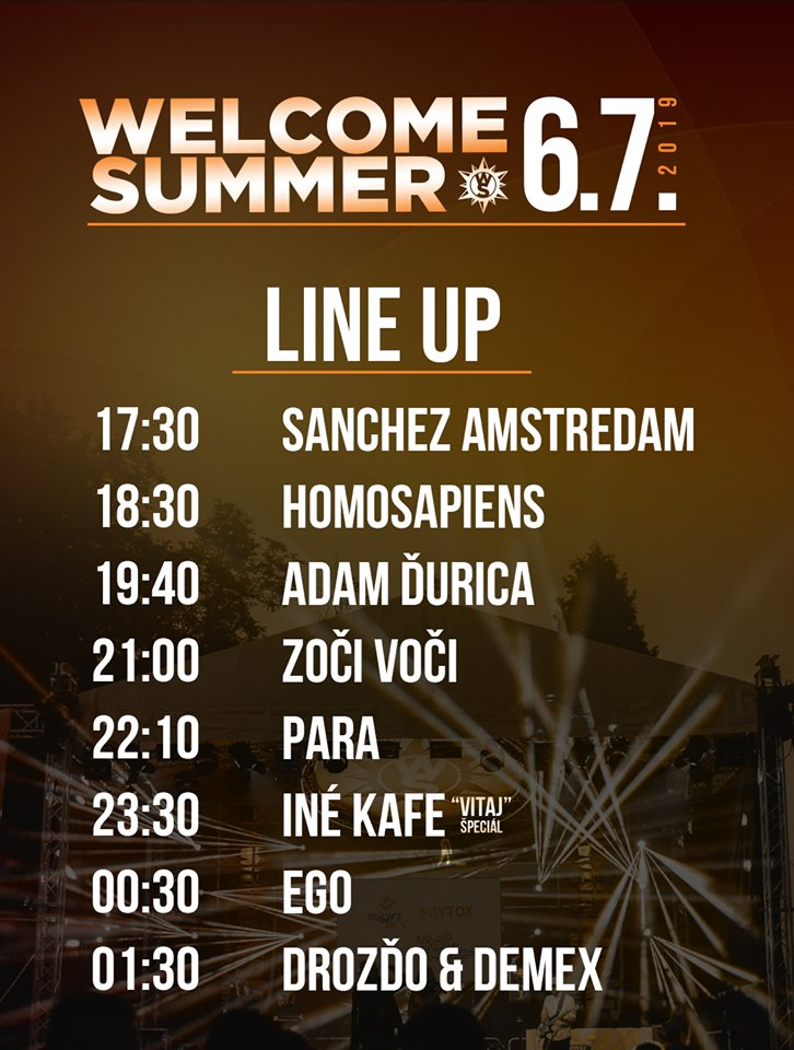 WELCOME SUMMER fest 2019 - line up