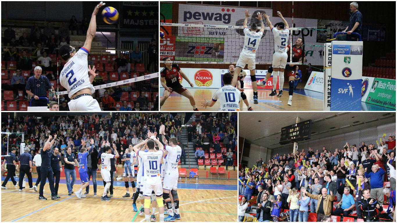 Foto: VK Prievidza - VK MIRAD PU Prešov 3:1 - postup do finále