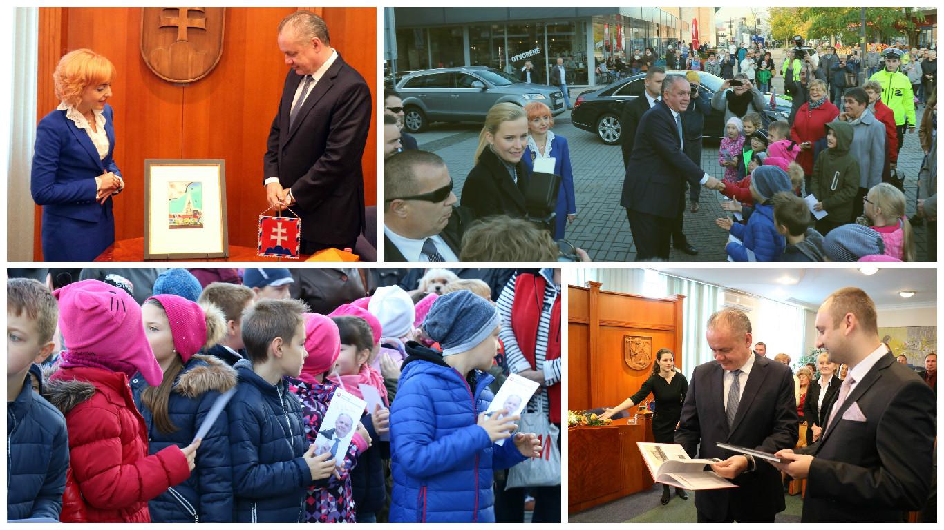 Foto a video: Prezident Andrej Kiska na návšteve Prievidze