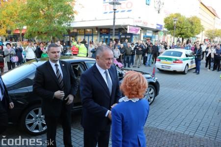 Foto a video: Prezident Andrej Kiska na návšteve Prievidze 13