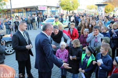 Foto a video: Prezident Andrej Kiska na návšteve Prievidze 14