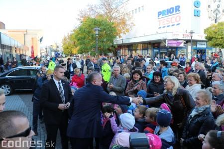 Foto a video: Prezident Andrej Kiska na návšteve Prievidze 16