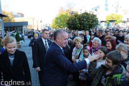 Foto a video: Prezident Andrej Kiska na návšteve Prievidze 17