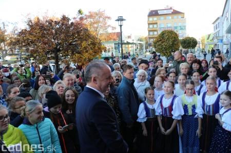 Foto a video: Prezident Andrej Kiska na návšteve Prievidze 18