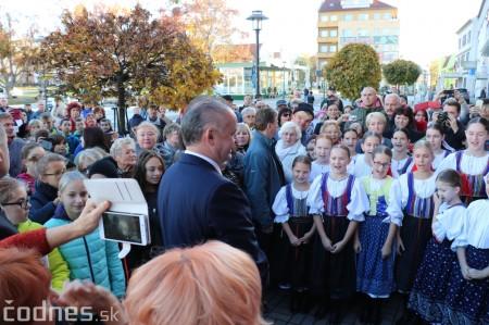 Foto a video: Prezident Andrej Kiska na návšteve Prievidze 19