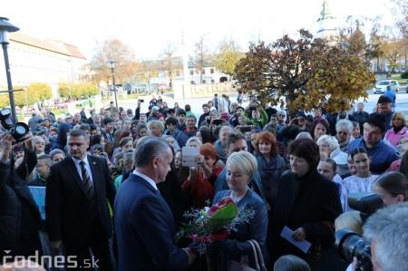 Foto a video: Prezident Andrej Kiska na návšteve Prievidze 22