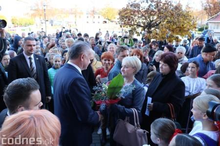 Foto a video: Prezident Andrej Kiska na návšteve Prievidze 23