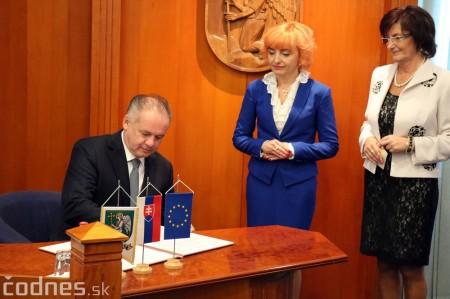 Foto a video: Prezident Andrej Kiska na návšteve Prievidze 35