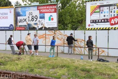 Foto: Vitajte v Prievidzi - sprejeri skrášlili plot 0