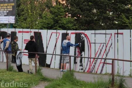 Foto: Vitajte v Prievidzi - sprejeri skrášlili plot 2