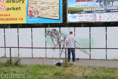 Foto: Vitajte v Prievidzi - sprejeri skrášlili plot 5