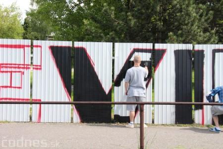 Foto: Vitajte v Prievidzi - sprejeri skrášlili plot 7