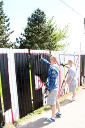 Foto: Vitajte v Prievidzi - sprejeri skrášlili plot 14