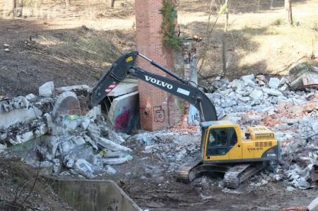 Foto a video: Búranie kryté bazény Čajka Bojnice 42