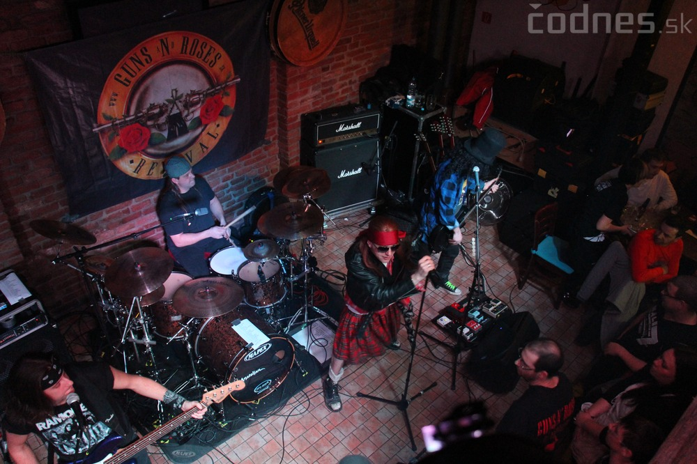 GUNS N' ROSES tribute band - Piano club Prievidza