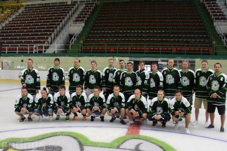 Foto a video: Exibičný hokejový zápas MšHK Bulldogs Prievidza a hviezdy NHL a Slovenska 2