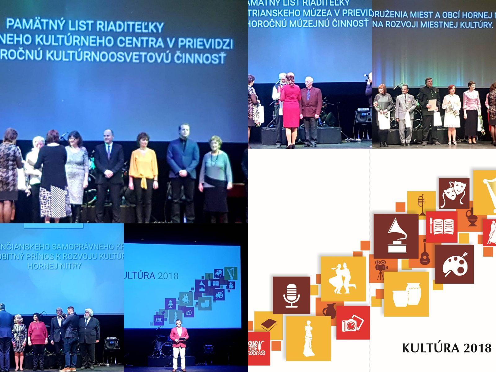 Foto: KULTÚRA 2018 - zoznam ocenených inštitúcií, kolektívov a jednotlivcov hornej Nitry