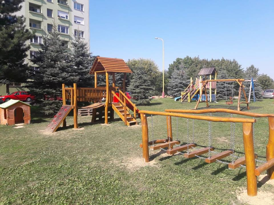 Detské ihrisko na Palárikovej ulici v Prievidzi