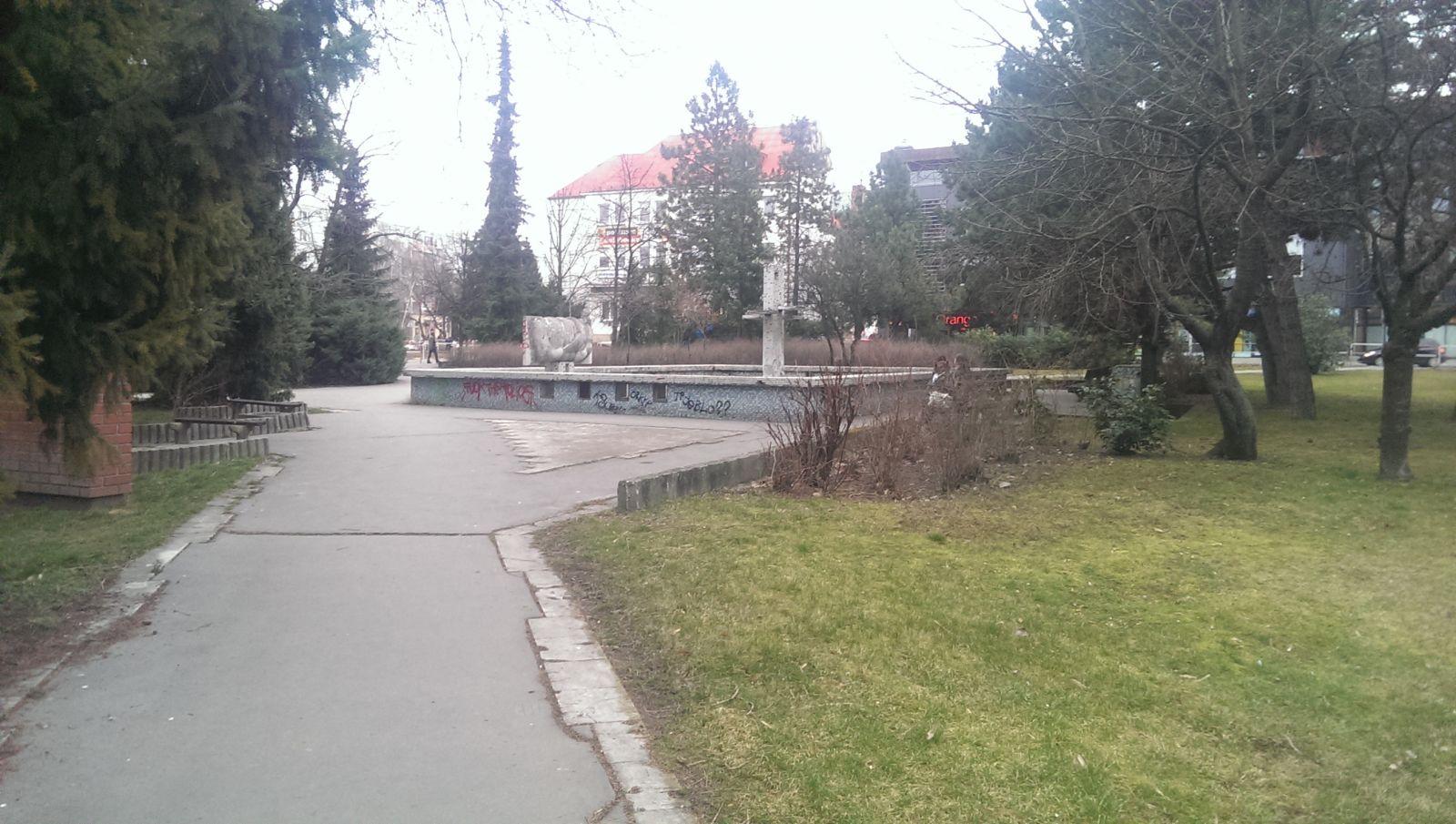 Park a fontána pred ÚPSVaR
