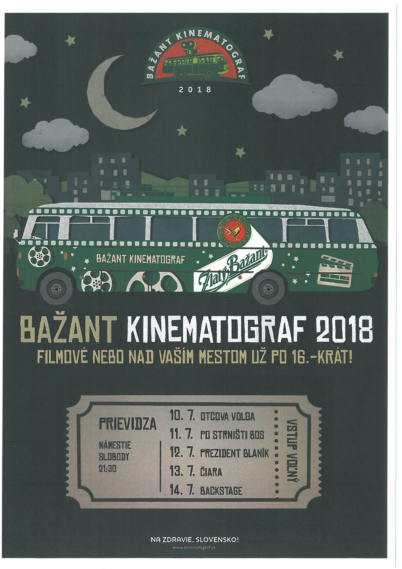 9faffaae0 Bažant Kinematograf 2018 - Prievidza | codnes.sk