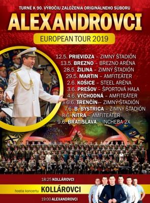 Alexandrovci European Tour 2019 - Prievidza