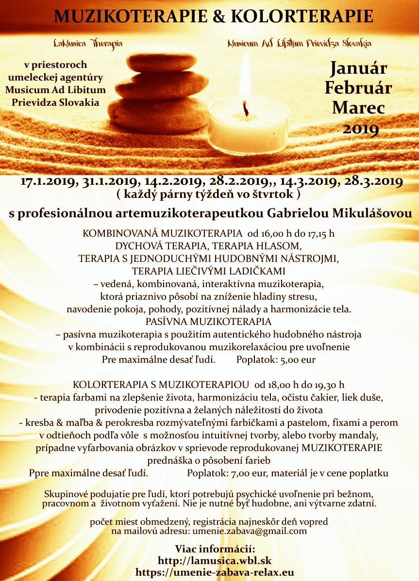 MUZIKOTERAPIE & KOLORTERAPIE - LaMusica Therapia 1/2/3 - 2019