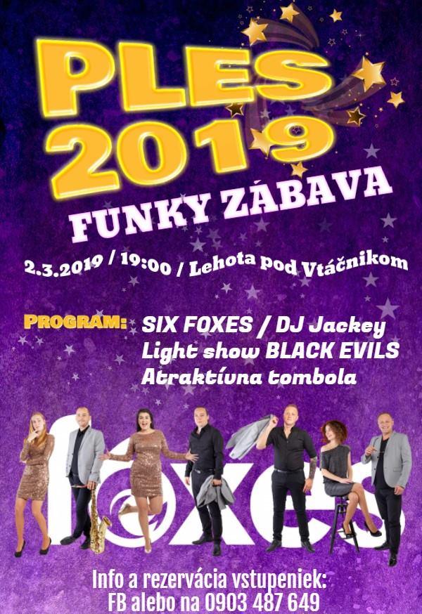 Ples 2019 - Funky zábava - zrušené