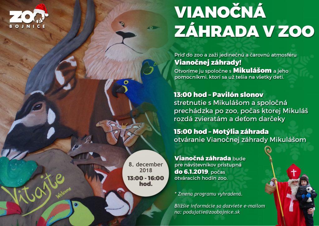 Vianočná záhrada v Zoo Bojnice + Mikuláš
