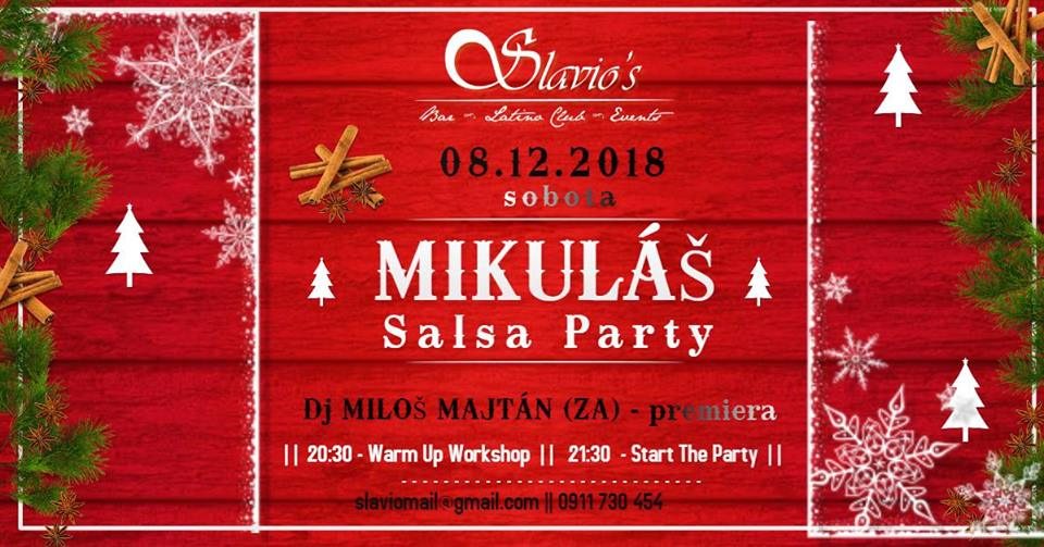 Mikuláš - Predvianočná Salsa Párty v Slavio᾽s Nováky
