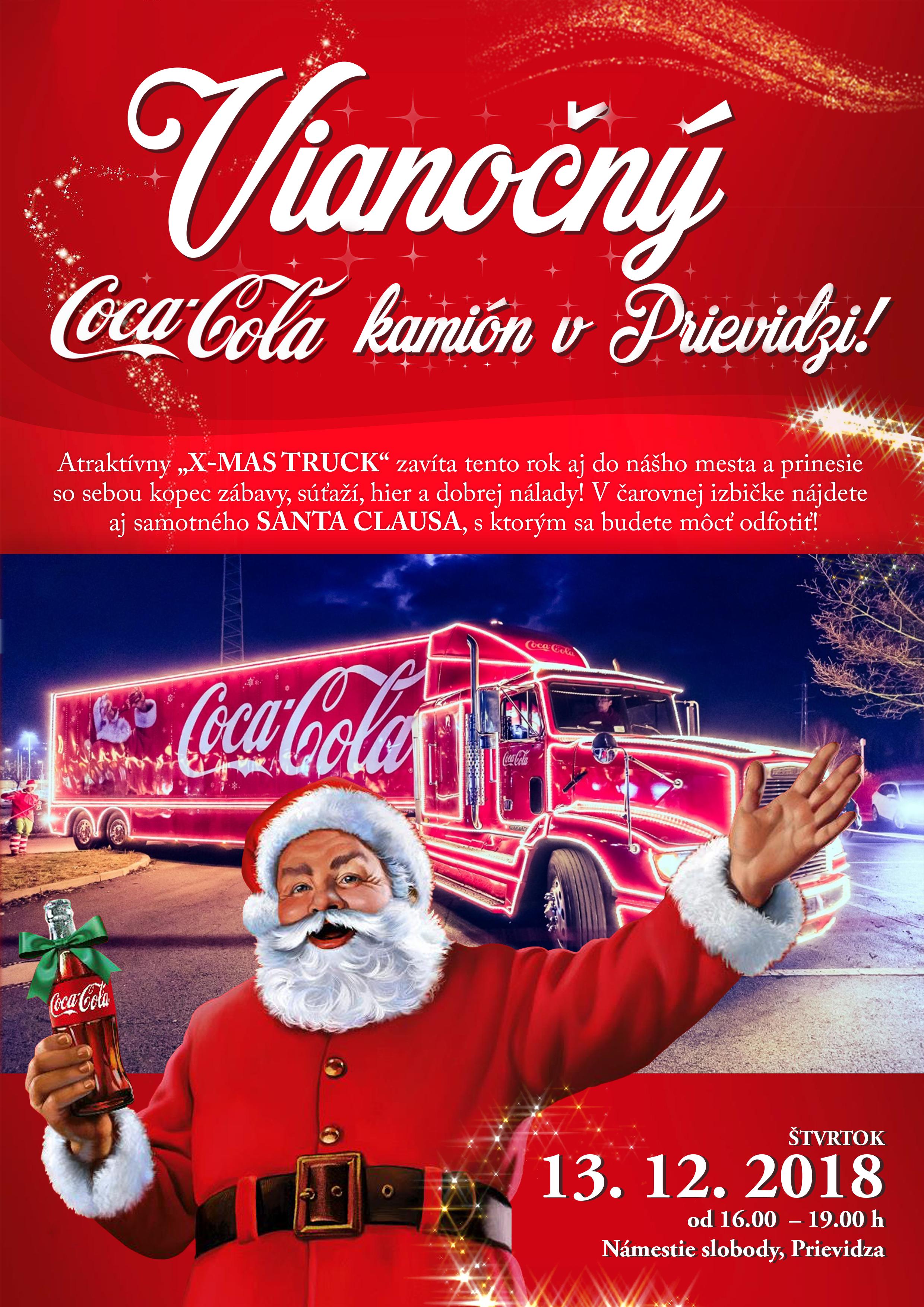 Vianočný Coca-cola kamión v Prievidzi!