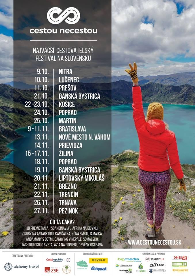 Cestovateľský festival Cestou necestou v Prievidzi