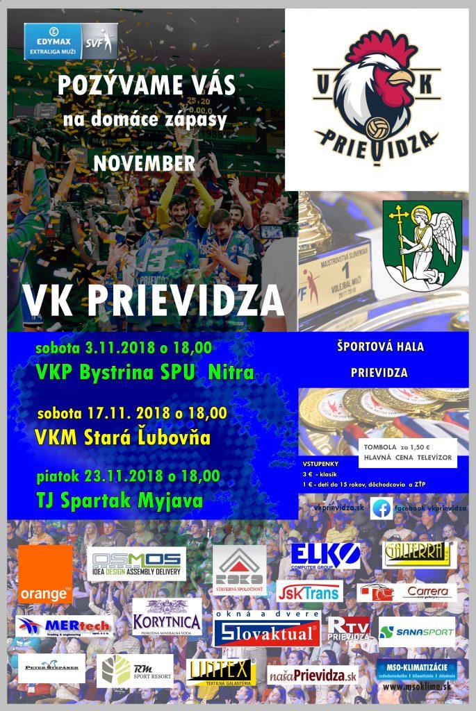 Volejbalová EDYMAX extraliga: VK Prievidza - VKP Bystrina SPU Nitra