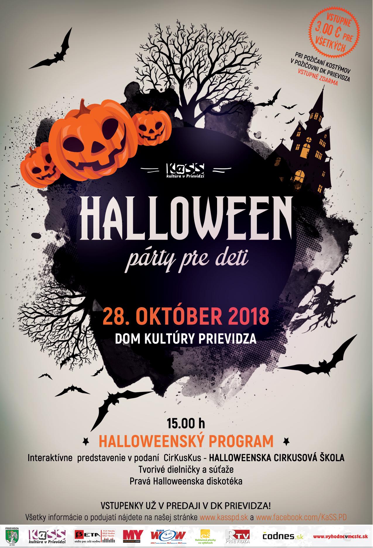 Halloweenska párty pre deti