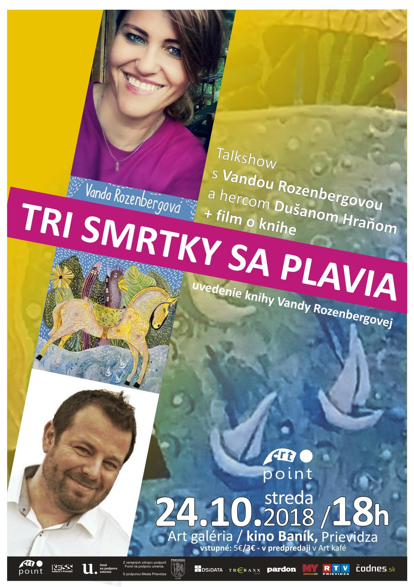 TRI SMRTKY SA PLAVIA - uvedenie knihy Vandy Rozenbergovej