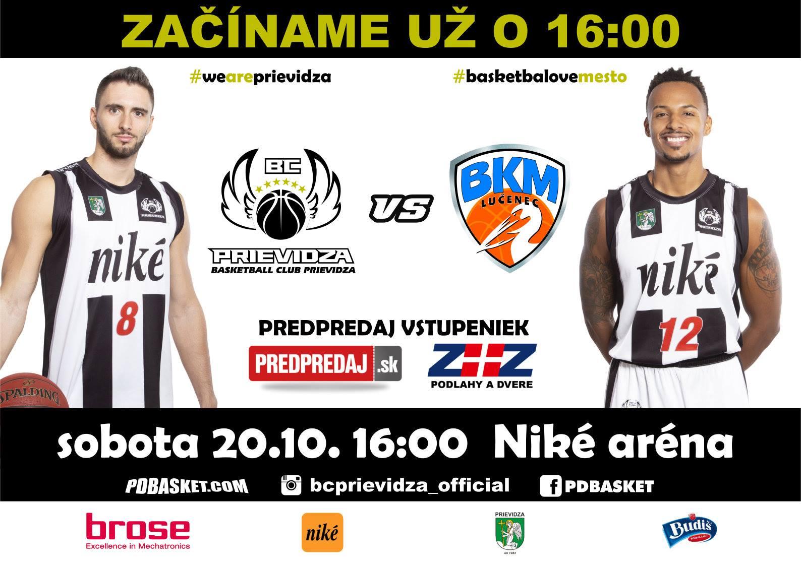 BC Prievidza - BKM Lučenec (1. domáci zápas)