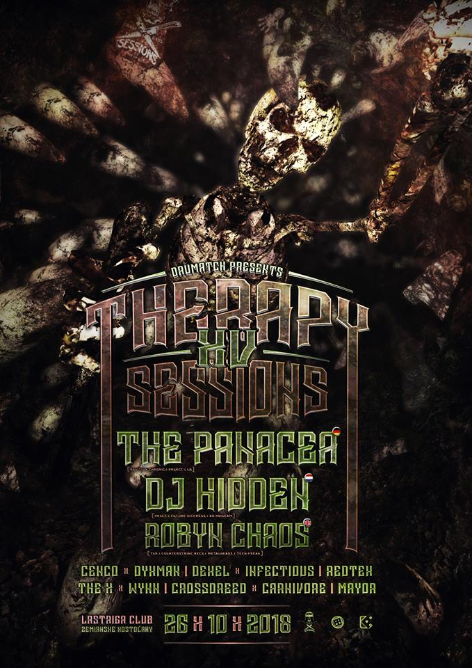 Drumatch presents: Therapy Sessions XV / Slovakia / 26.10.2018 /