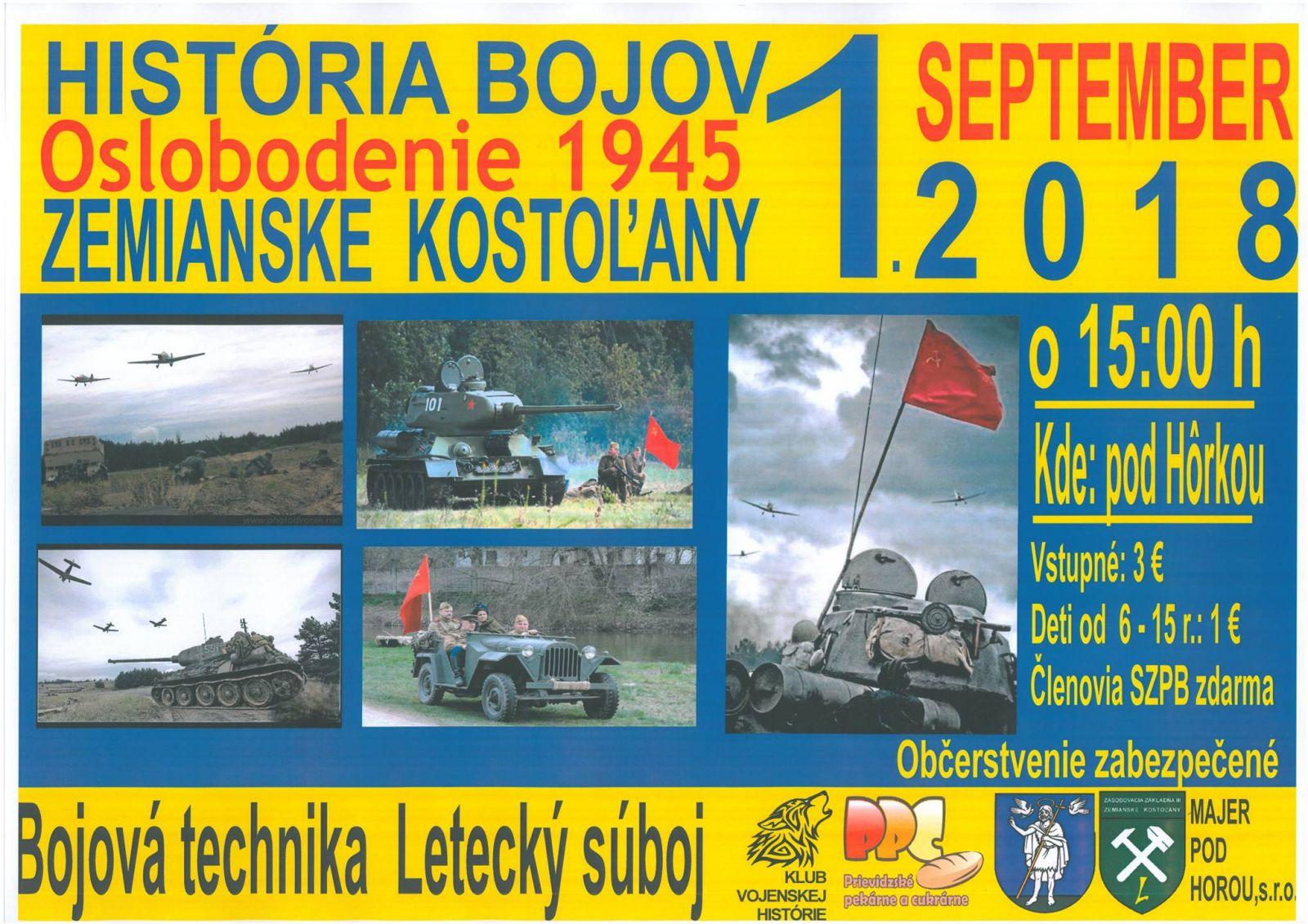 História bojov - Oslobodenie 1945 - Zemianske Kostoľany
