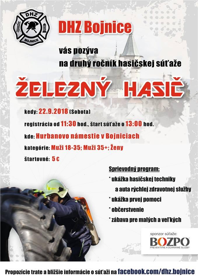 Železný hasič v Bojniciach