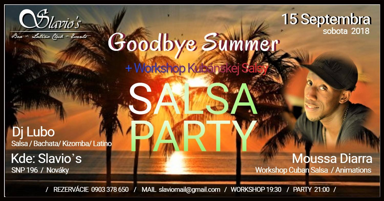 Goodbye Summer Salsa Party v Slavio᾽s Nováky.