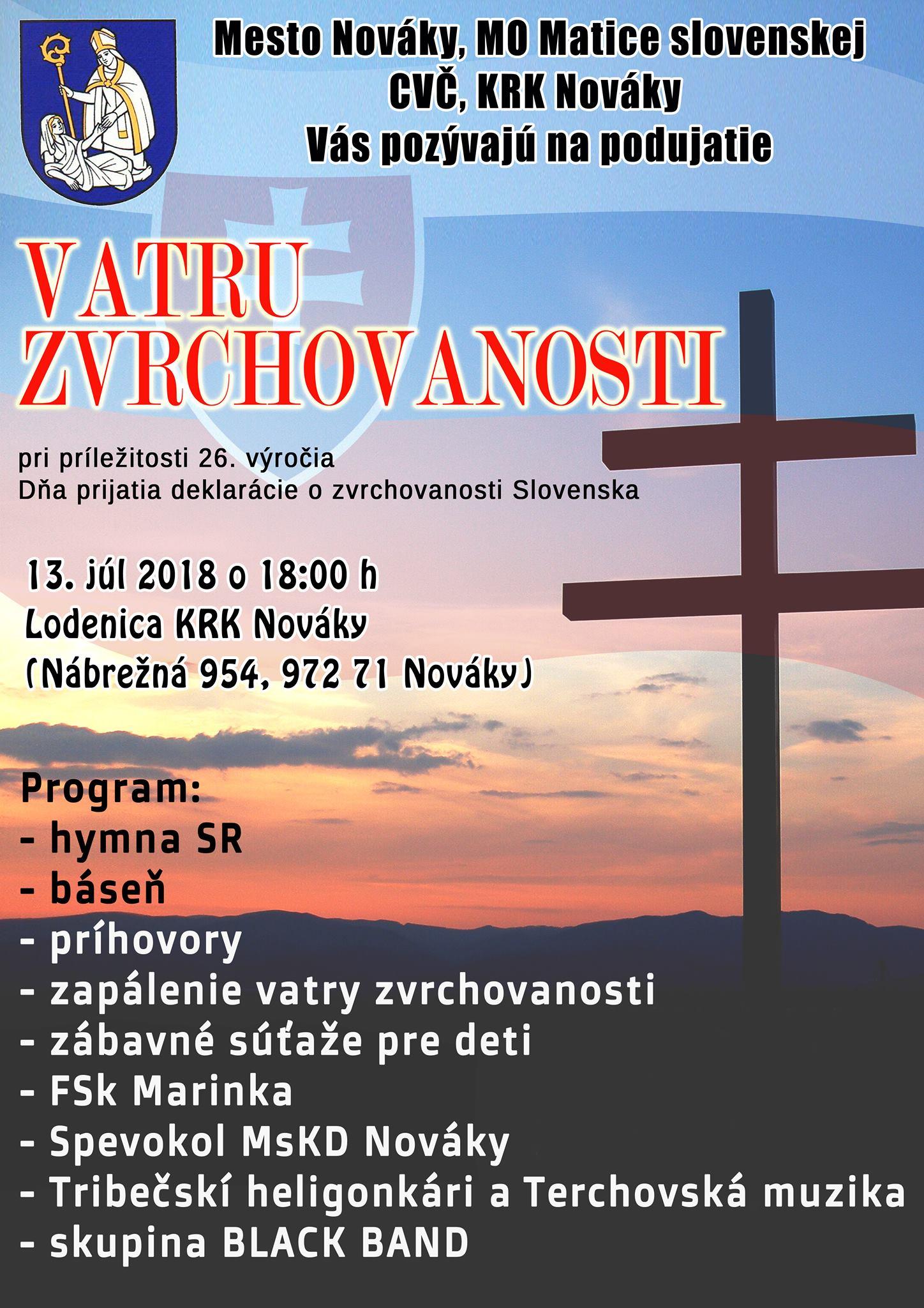 Vatra zvrchovanosti - Nováky