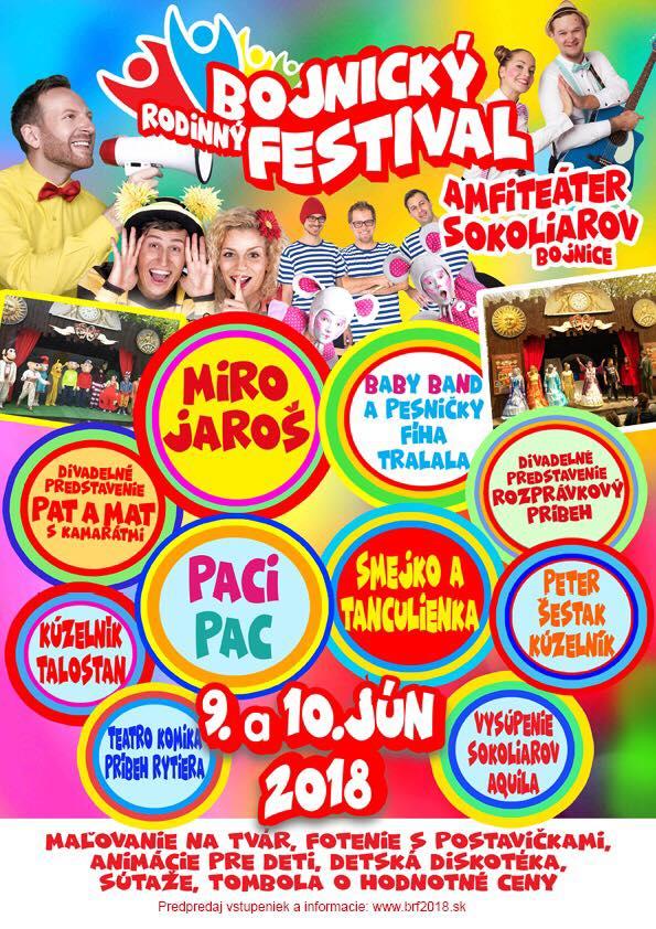 Bojnický rodinný festival   9. a 10.6.2018