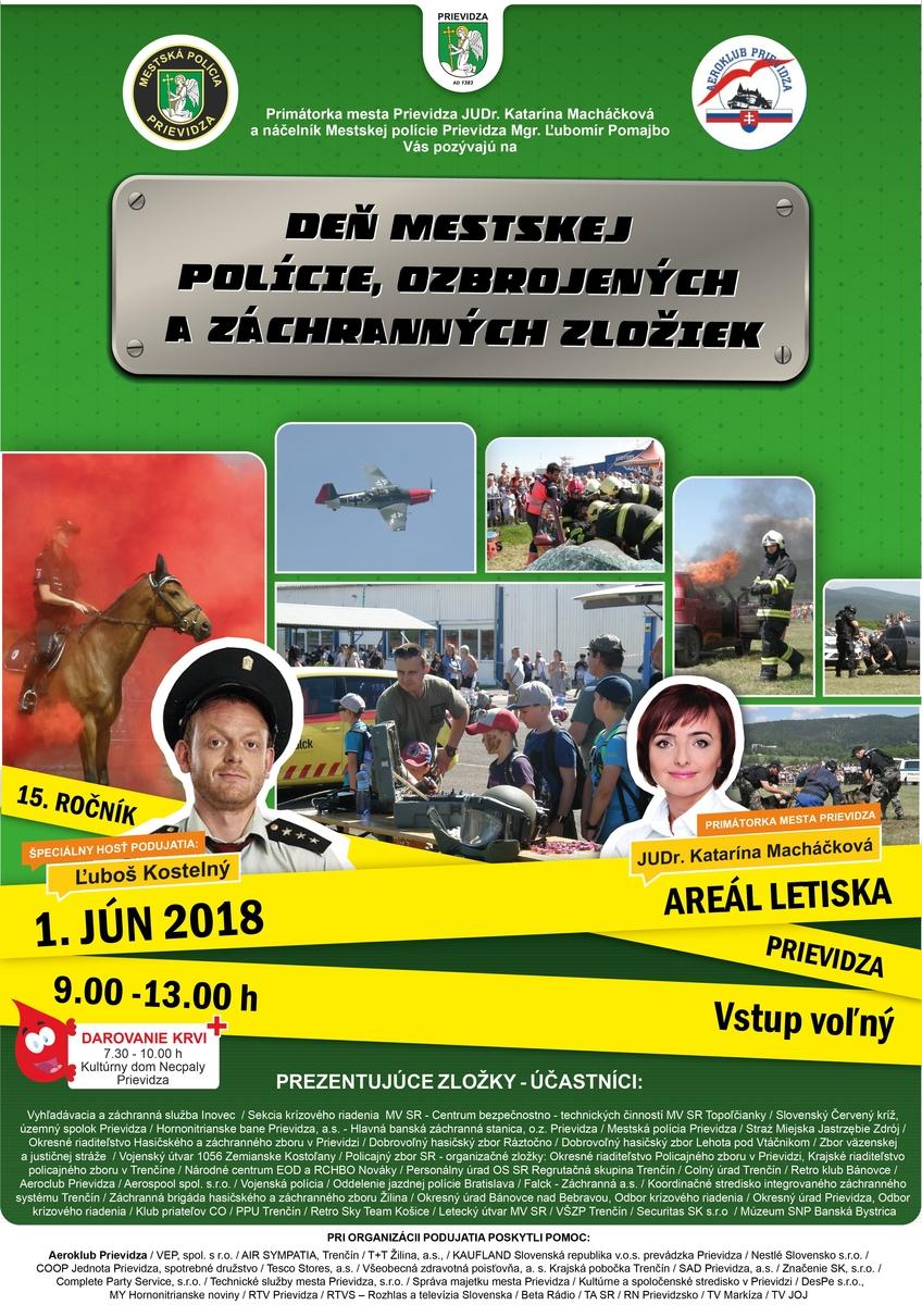 Deň polície, armádnych a záchranných zložiek 2018