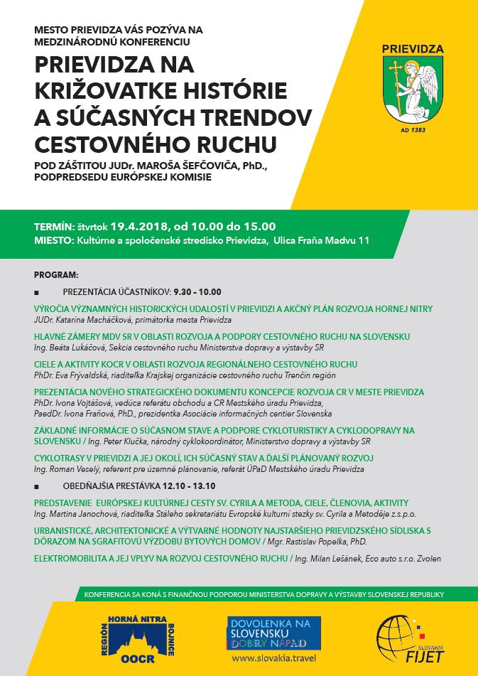 Medzinárodná konferencia cestovného ruchu 2018 - Prievidza