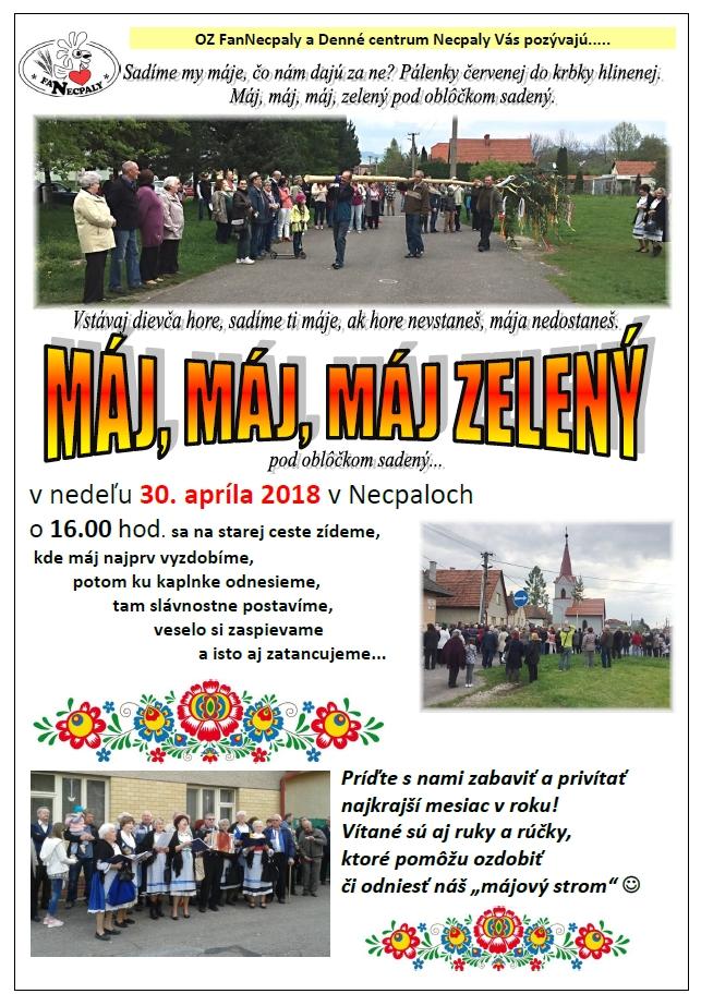 Stavanie mája v Necpaloch
