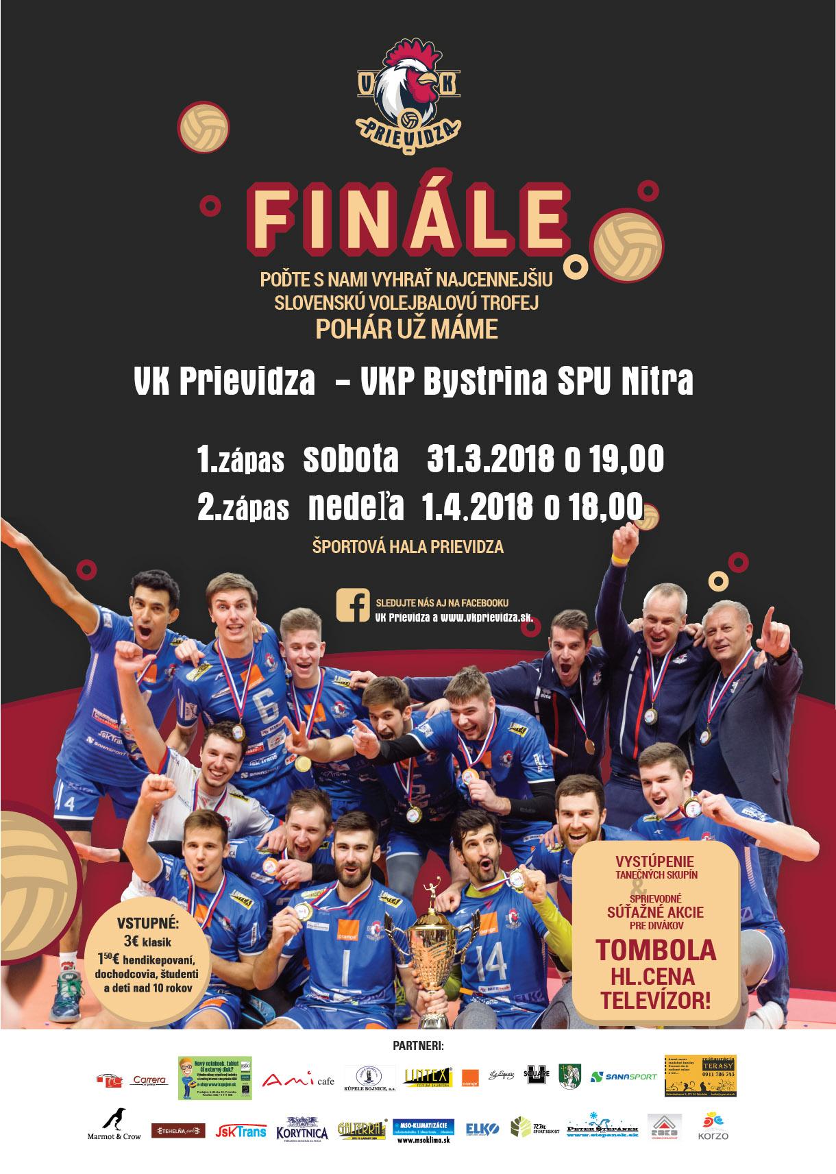 Finálová séria medzi VK Prievidza - VKP Bystrina STU Nitra