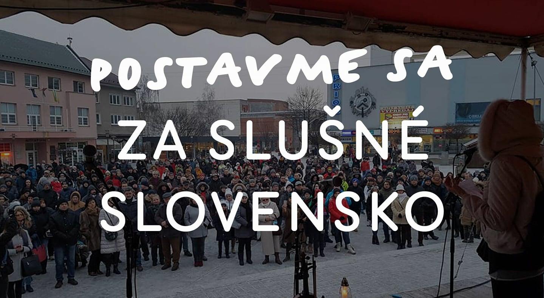 Prievidza - Postavme sa za slušné Slovensko!