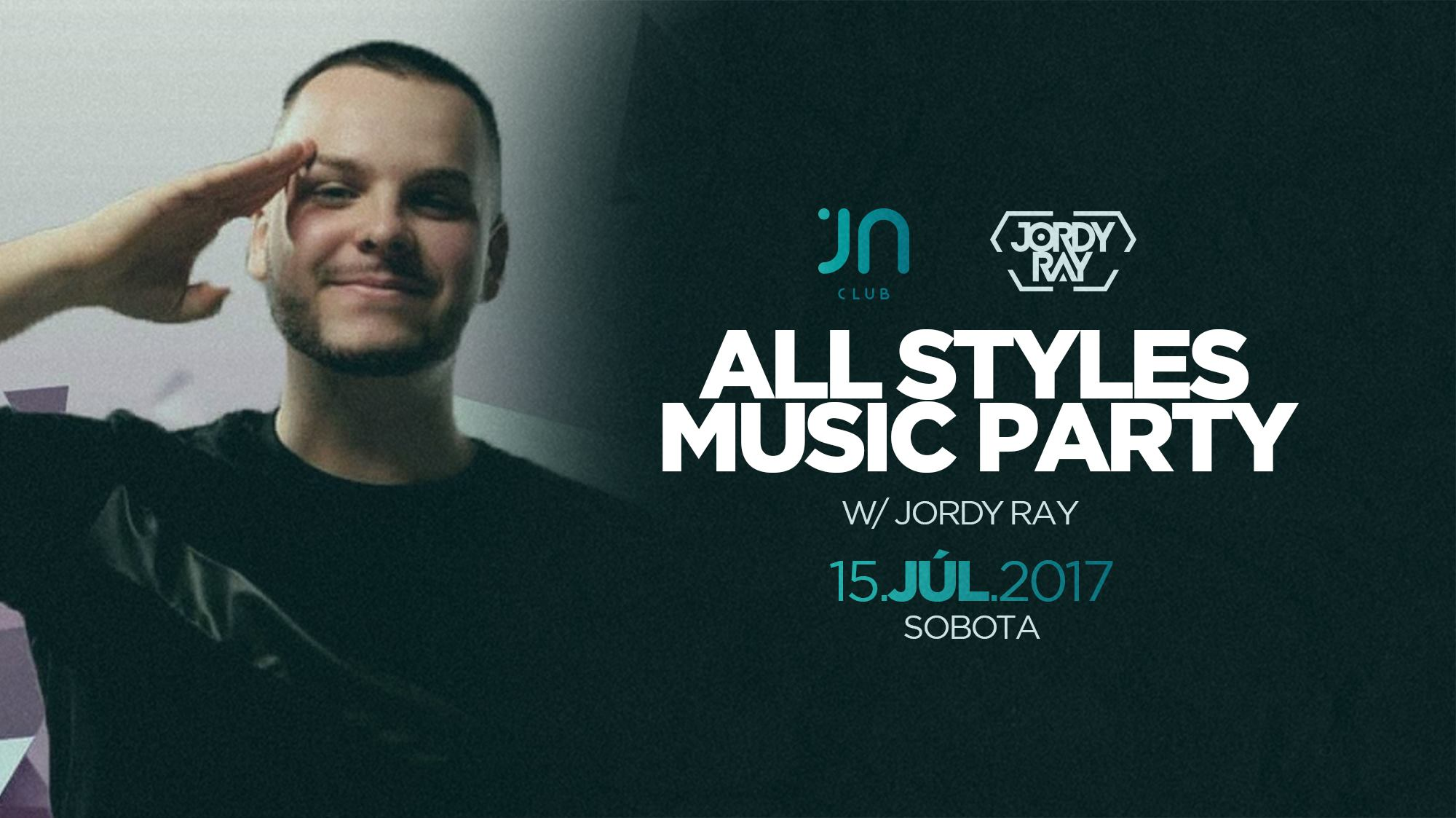 All styles music party w/ Jordy Ray