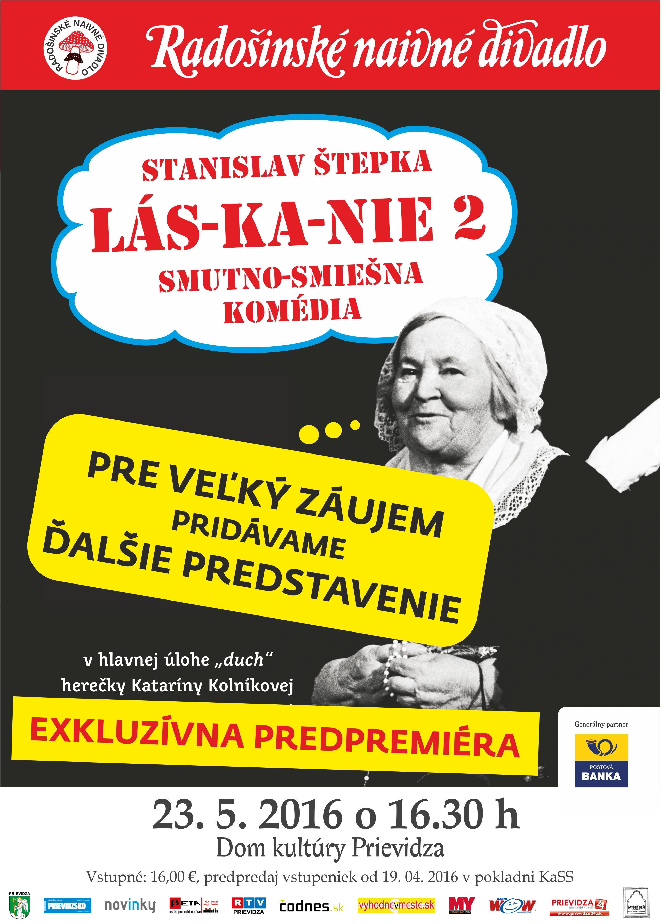 Ďalšie predstavenie predpremiéry Lás-ka-nie 2 v podaní Radošincov